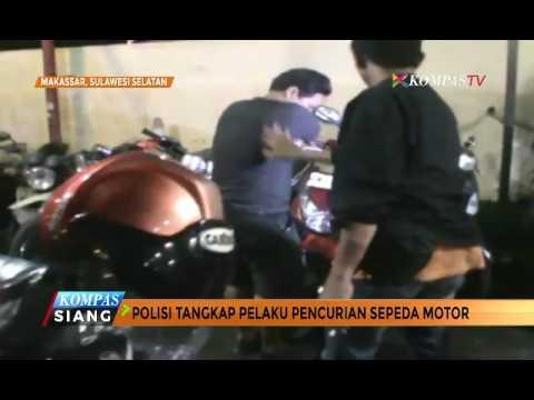 Asyik Tidur, Pencuri Motor Digerebek Polisi