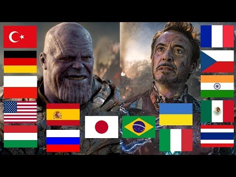 """I AM INEVITABLE"" and ""I AM IRON MAN"" in different languages"