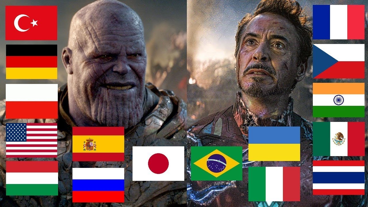"""Download """"I AM INEVITABLE"""" and """"I AM IRON MAN"""" in different languages"""