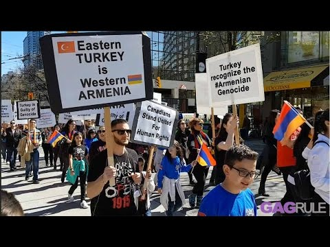 Vancouver, Canadian Armenian Commemorate Armenian Genocide 1915  March to Justice.
