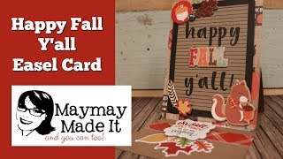 Happy Fall Y'all Letter Board Easel Card