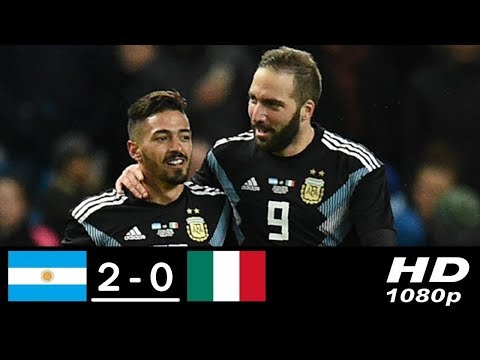 Argentina vs Italy 20 • All Goals and Highlights • International Friendly Match • 2018 HD