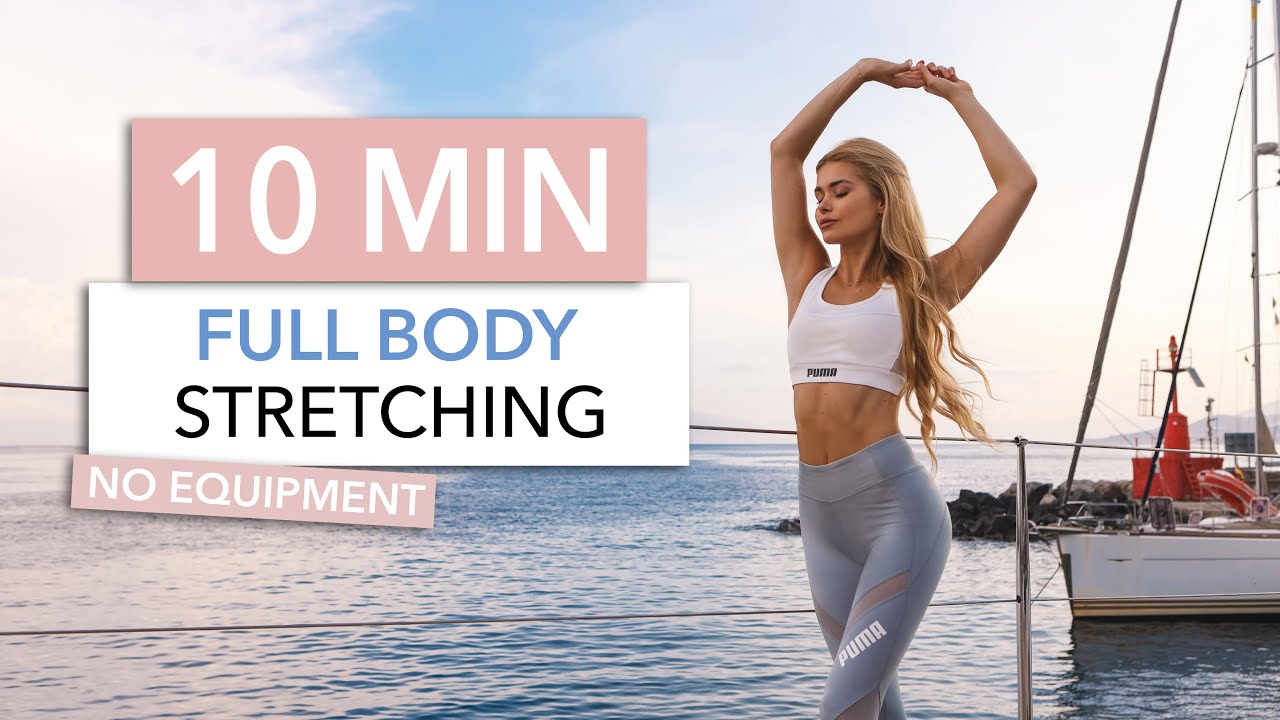 10 MIN FULL BODY STRETCH - a simple routine for tight muscles & flexibility I Pamela Reif