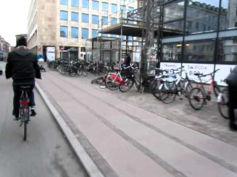Cycling in Copenhagen( cycles parking everywhere)