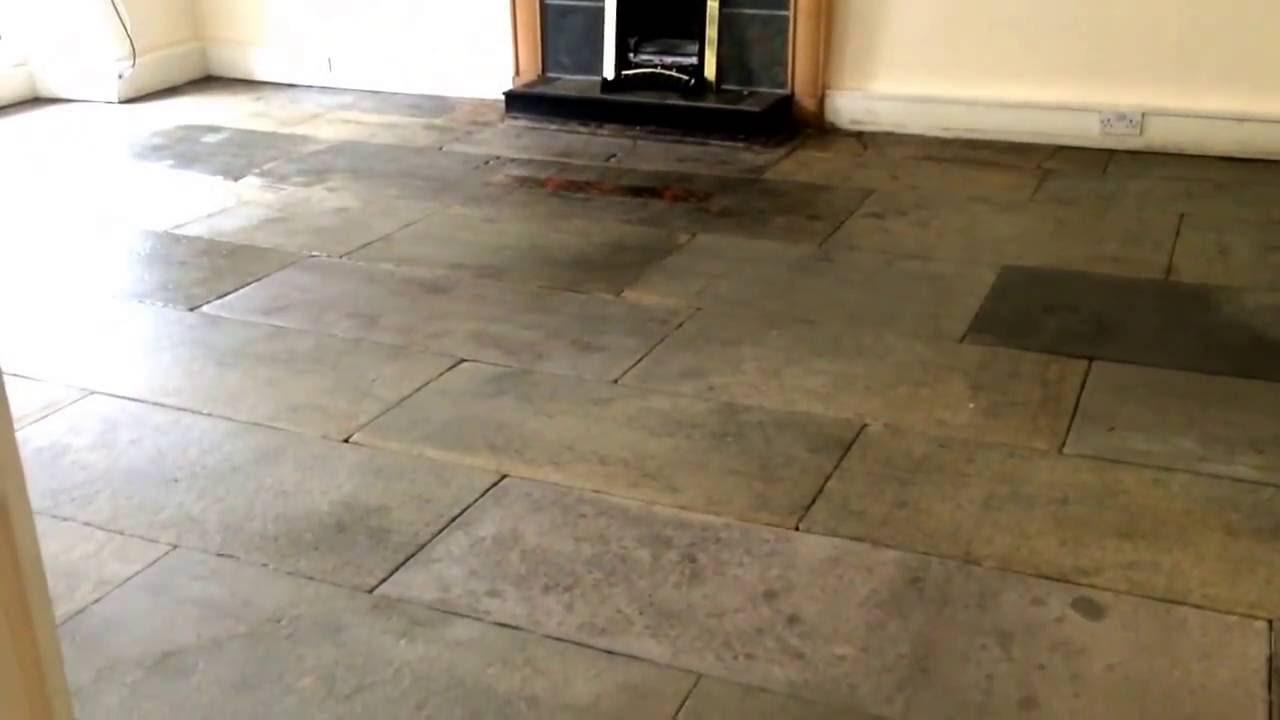 Flagstone floor cleaning edinburgh restoration and sealing youtube flagstone floor cleaning edinburgh restoration and sealing dailygadgetfo Images