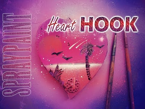 Spray Paint Art Heart Pink HOOK TUTORIAL ITA 2018