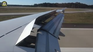 Lufthansa Airbus A321 nice Wing View during landing in Frankfurt [AirClips]
