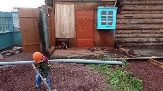 Как мы строим дом. Как сделать тёплый пол отопление фундамент три в одном экономичный вариант строит