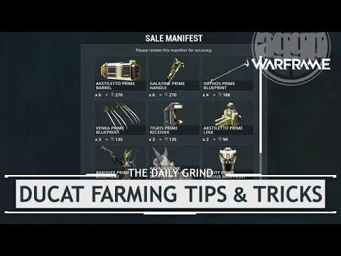 Warframe: Ducat Farming Tips & Tricks - The Road to TennoCon 2017
