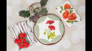 How to Decorate Beautiful Poppy Flower Cookies 🕊️🌸 🖌️