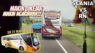 Video kali ini adalah aksi HR 21 Marcello mengejar Scania K360 Rosa...