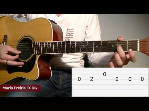 How To Play Ode to Joy - Acoustic Guitar Tab Lesson: Melody TCDG