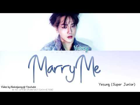YESUNG (예성) - 결혼해줘 (Marry Me) (Color Coded Lyrics Eng/Rom/Han/가사)