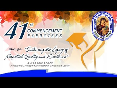 UPHSL 41st Commencement Exercises
