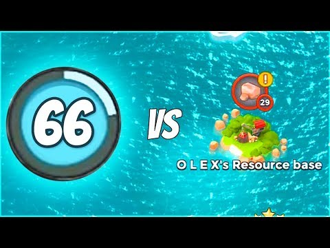 LEVEL 66 VS LEVEL 29?!? Boom Beach Resource Base Map Clearing!