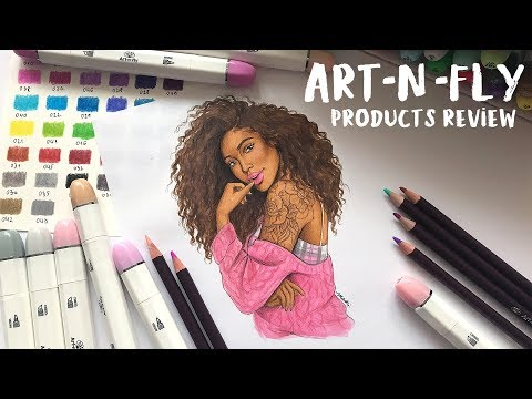 GOOD AND INEXPENSIVE ART SUPPLIES? ART-N-FLY Review