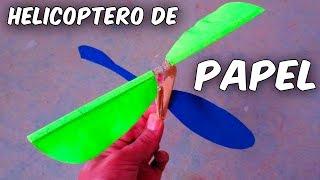 Como Hacer Un Helicoptero Casero Que Vuele De Papel Con Motor A Goma Youtube