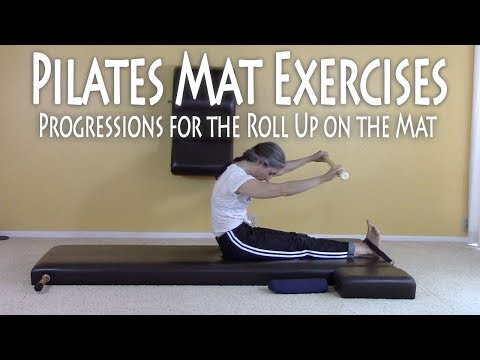 Pilates Mat Exercises: Progressions for the Roll Up on the Mat