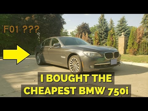 I BOUGHT ONE OF THE CHEAPEST BMW 7-SERIES ON THE MARKET!!!