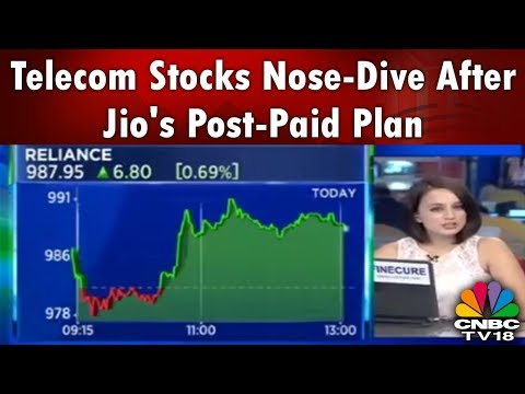 Telecom Stocks Nose-Dive After Jio's Post-Paid Plan | Business Lunch | CNBC TV18