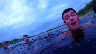 Swimming in nudist beach