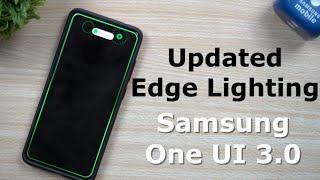Updated Edge Lighting - Samsung One UI 3.0