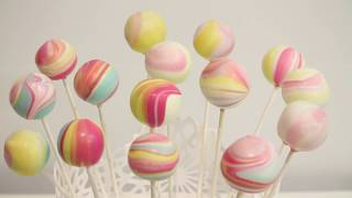 how to make PASTEL CAKE POPS WITH PEARL DUST!