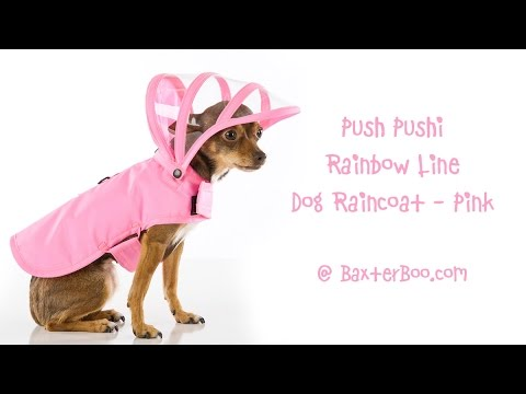 8488a28e91a Push Pushi Rainbow Line Dog Raincoat - Pink - YouTube
