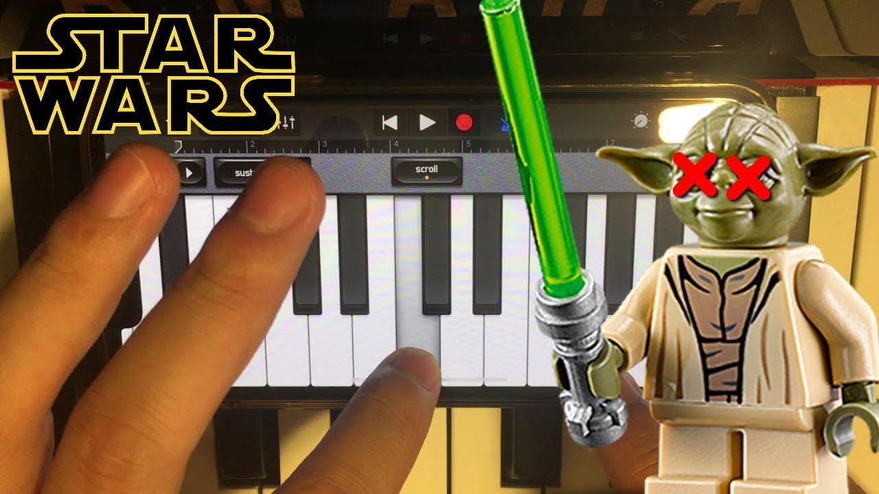 Lego Yoda Death Sound sings the Star Wars Theme - YouTube