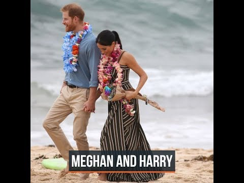 Royals Harry and Meghan go barefoot on Bondi