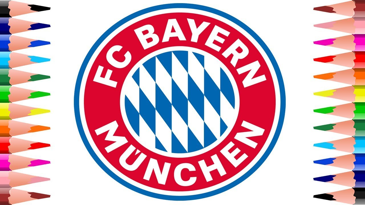 painting fc bayern münchen logo football club - how to