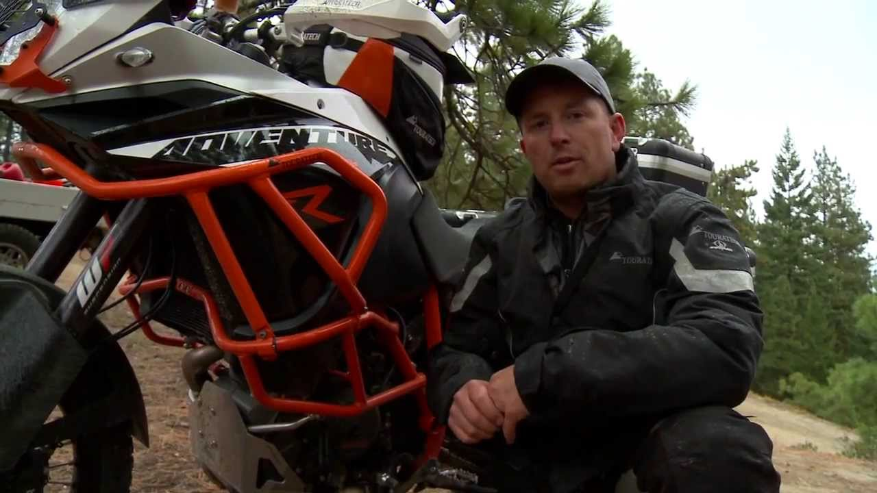 ktm 1190 adventure upper engine crash bar - youtube