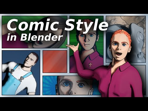 Comic style in Blender [TUTORIAL]