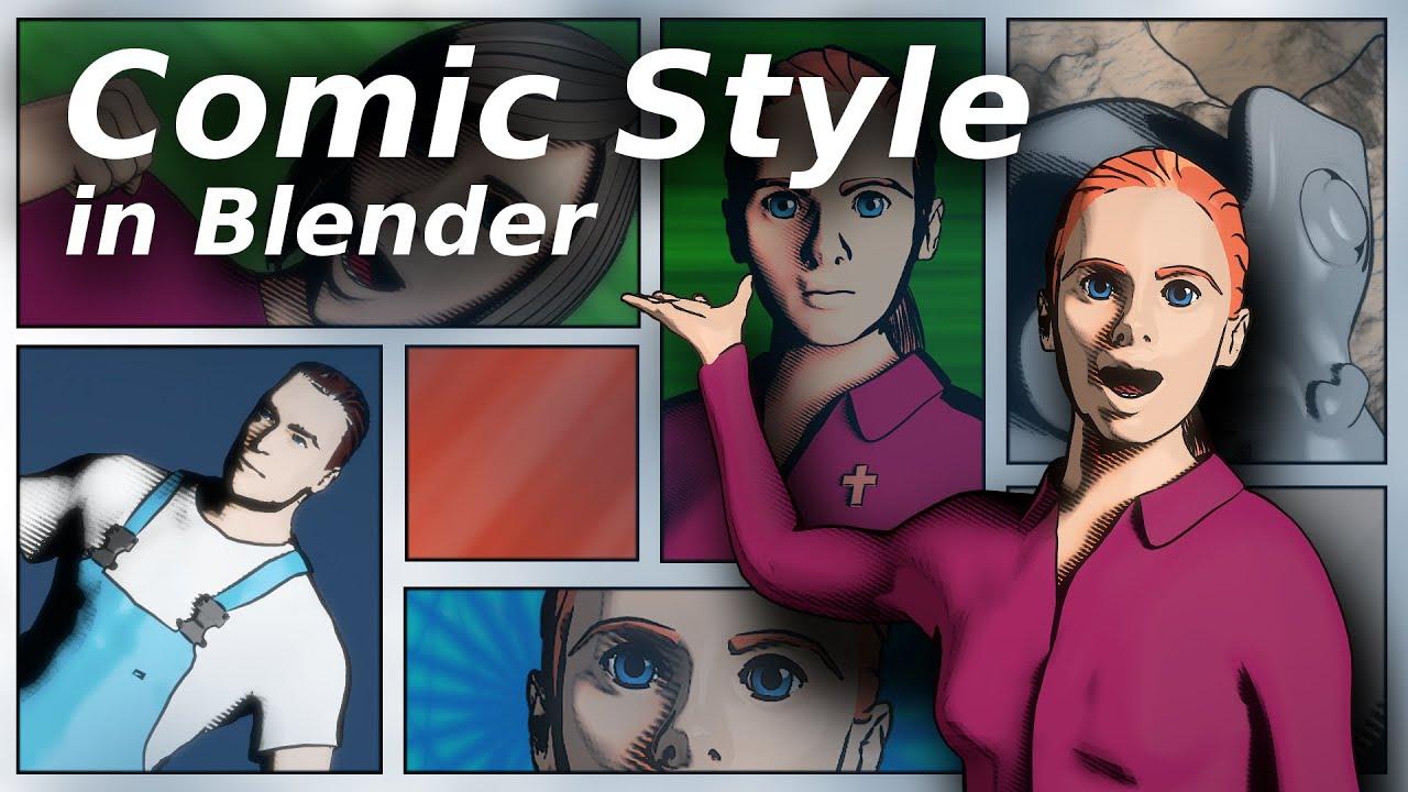 comic style in blender tutorial youtube. Black Bedroom Furniture Sets. Home Design Ideas