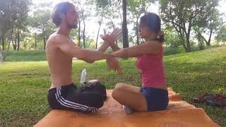 Wing Chun Chi Sao Fight Sitting Down