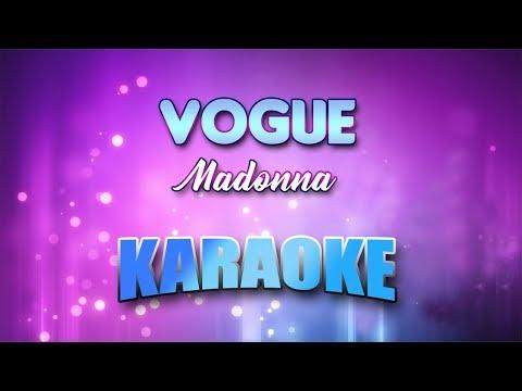 Madonna - Vogue (Karaoke version with Lyrics)