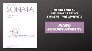Henri Eccles (arr. Rascher) – Sonata in G minor, mvt. III (Piano Accompaniment)