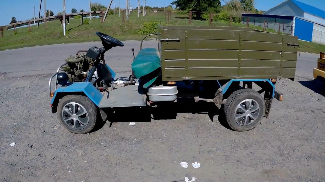 Самодельный мини грузовик! Трактор! Homemade mini truck!
