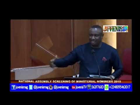 Godswill Akpabio Dazzles at Senate 2019 Ministerial
