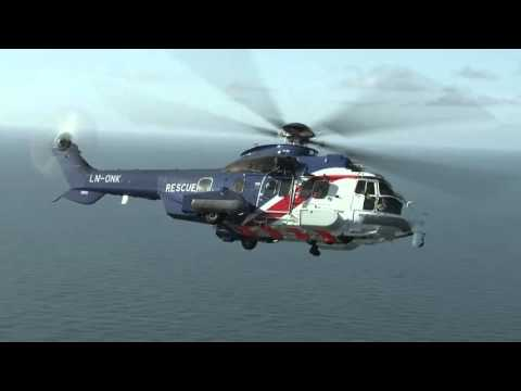 H225 Rescue Training in North Sea