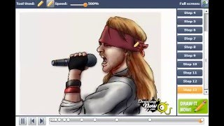 How to Draw Axl Rose from Guns n Roses