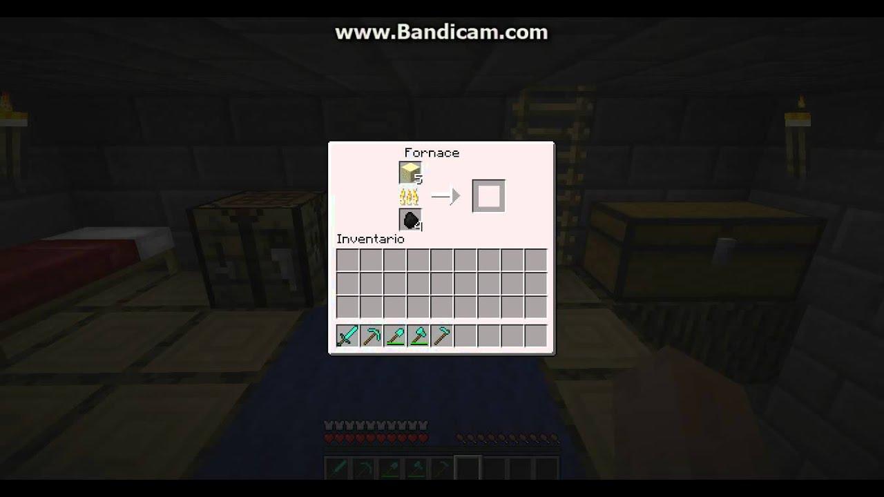 Come creare il vetro su Minecraft  YouTube