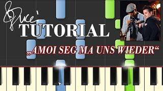 Andreas Gabalier - Amoi seg ma uns wieder (piano tutorial + MIDI)