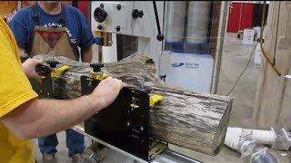 Mini Sawmill On A Bandsaw For Longer Logs