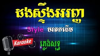 Khmer Karaoke ភ្លេងសុទ្ធ ខារ៉ាអូខេ ដងស្ទឹងអរញ្ញ Dong Steung Aranh Phleng Sot