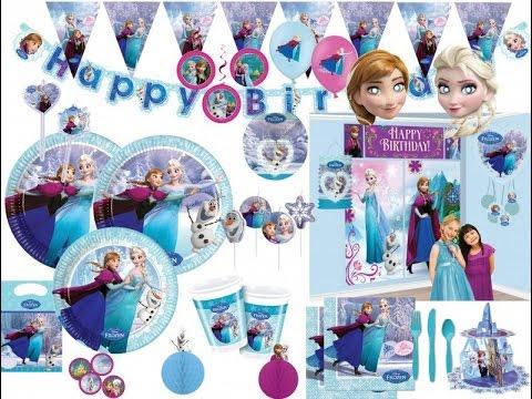 Lea Wird 5 Geburtstags Deko Anna Und Elsa Motto Youtube
