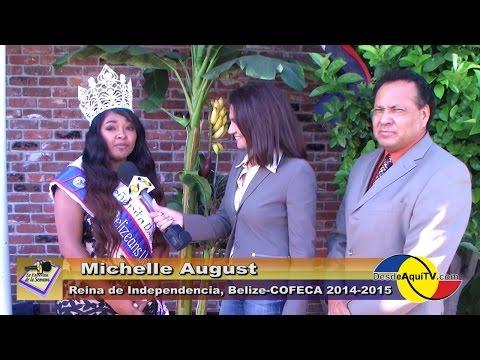 Desde Aqui TV,  entrevista la reina de Belize - Cofeca, 2014, Desfile Centroamericano.