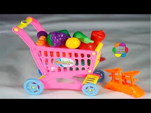 لعبة عربة الخضار والسوبر ماركت اجمل العاب الاطفال للاولاد والبنات