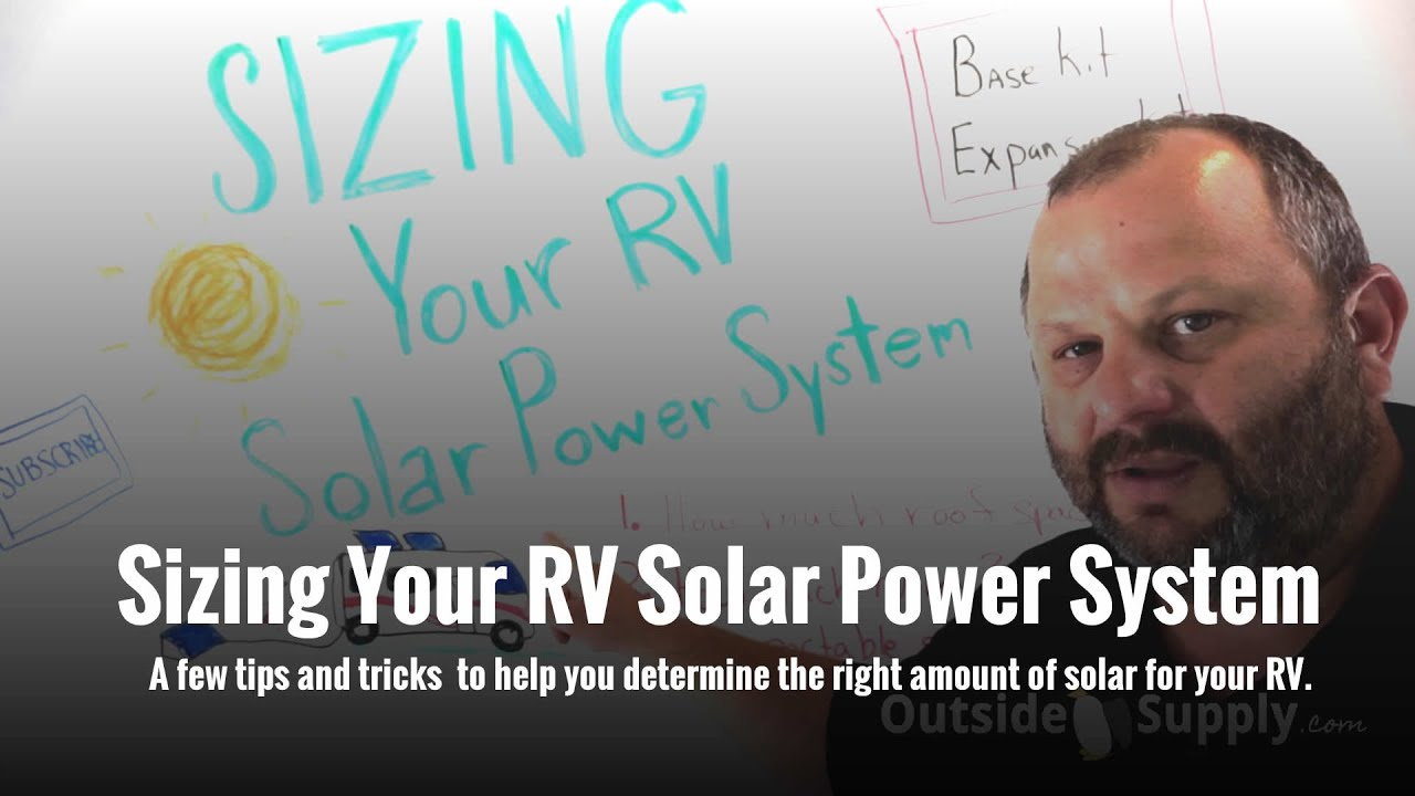 Sizing Your Rv Solar Power System Youtube