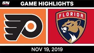 NHL Highlights   Flyers vs Panthers - Nov. 19, 2019